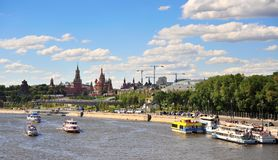 Panorama of Moscow city center, Russia Royalty Free Stock Image
