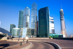 Panorama of Moscow City, Russia Royalty Free Stock Photography