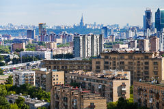 Panorama of Moscow city Royalty Free Stock Images