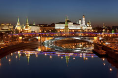 Panorama of Moscow at dawn. Russia Stock Photography