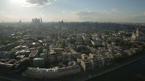 Panorama of Moscow from the height of bird flight
