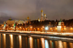 Panorama of Moscow Kremlin Royalty Free Stock Image