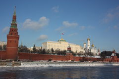 Panorama of the Moscow Kremlin. Royalty Free Stock Photography