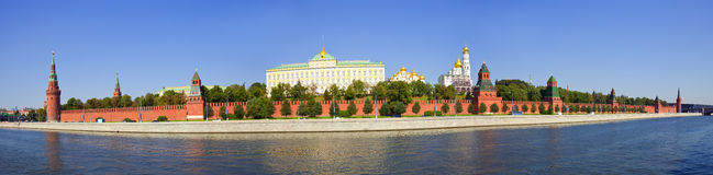 Panorama of   Moscow Kremlin Stock Photo