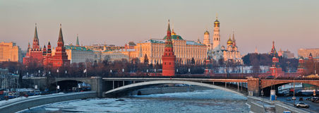 Panorama of Moscow Kremlin Royalty Free Stock Photos
