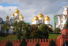 Panorama of Moscow Kremlin churches. Stock Image