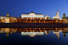 Panorama of the Moscow Kremlin in the early morning Stock Photo