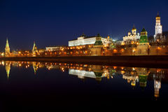 Panorama of the Moscow Kremlin in the early morning Stock Image