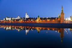 Panorama of the Moscow Kremlin in the early morning Stock Photos