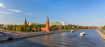 Panorama of Moscow Kremlin Stock Photos