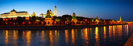 Panorama of Moscow Kremlin Stock Images