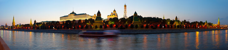 Panorama of Moscow Kremlin Royalty Free Stock Photography