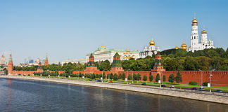 Panorama of the Moscow Kremlin and the waterfront Royalty Free Stock Image