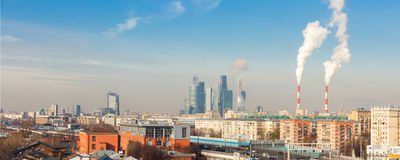 Panorama of Moscow Stock Image