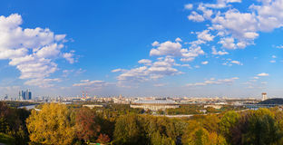 Panorama of Moscow Russia Royalty Free Stock Photography