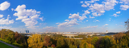 Panorama of Moscow Russia Stock Photos