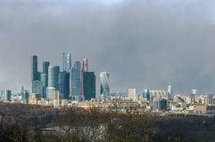 Panorama of Moscow from Sparrow hills,Russia Stock Photography