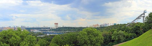 Panorama of Moscow from Sparrow Hills, Russia Royalty Free Stock Photography