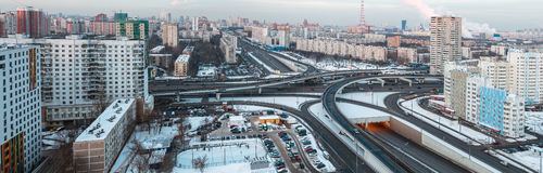 Panorama of Moscow streets Royalty Free Stock Images