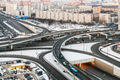 Panorama of Moscow streets Stock Photo
