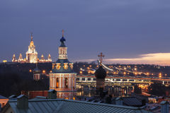 Panorama of Moscow at sunset Royalty Free Stock Image