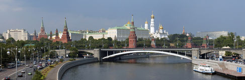 Panorama Moskau-Kremlin Lizenzfreie Stockfotografie