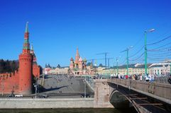 Panorama Moskaus der Kreml und des Roten Platzes. Lizenzfreie Stockbilder
