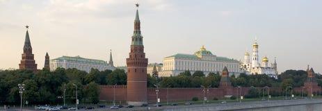 Panorama Moskou het Kremlin stock foto