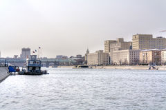 Panorama of the Moskva River Stock Image