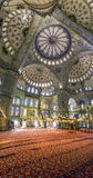 Panorama mosque Hagia Sophia indoor Royalty Free Stock Image