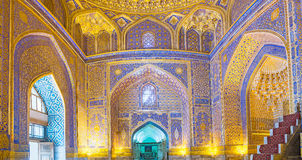 Panorama of the mosque Stock Image