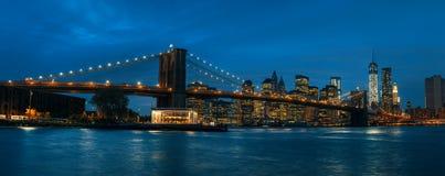 Panorama most brooklyński, NYC obraz stock