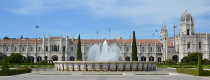 Panorama of Mosteiro dos Jeronimos Royalty Free Stock Image