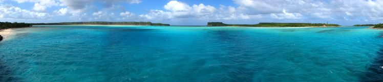 Panorama of Mouli, New Caledonia Stock Photo
