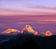 Panorama of mount Annapurna South, Nepal stock photography