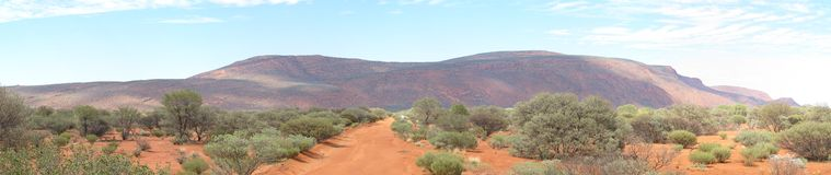 Panorama of mount augustus, western australia. Beautiful mount augustus, western australia royalty free stock photo
