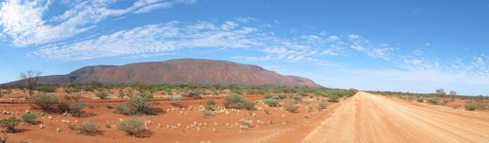 Panorama of mount augustus, western australia Stock Photography