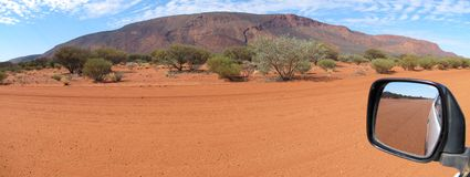 Panorama of mount augustus, western australia Stock Photos