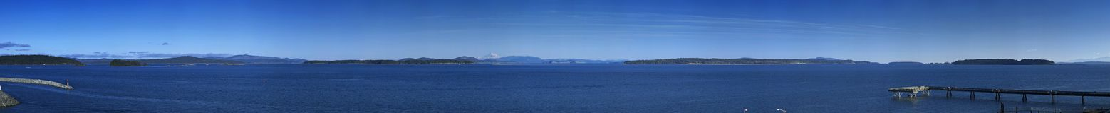 panorama mount everest Piekarz, WA, San Juan i zatok wyspy, Zdjęcia Stock