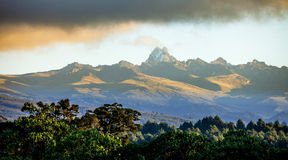 Panorama of Mount Kenya stock photography