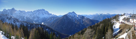 Panorama from mount Lussari, Italy Stock Photography