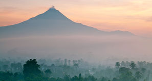 Panorama of Mount Merapi Stock Photos