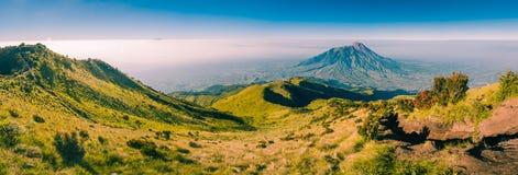 Panorama of Mount Merbabu Stock Photo