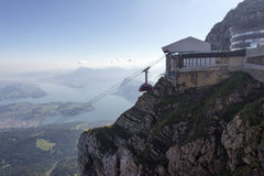 Panorama from Mount Pilatus, Switzerland royalty free stock photography