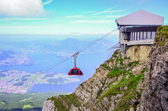 Panorama from Mount Pilatus, Switzerland Royalty Free Stock Images