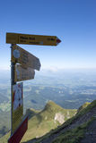 Panorama from Mount Pilatus, Switzerland stock images