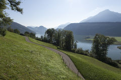 Panorama from Mount Pilatus, Switzerland Stock Photography