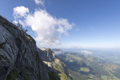 Panorama from Mount Pilatus, Switzerland royalty free stock image