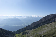 Panorama from Mount Pilatus, Switzerland stock photos