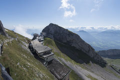 Panorama from Mount Pilatus, Switzerland royalty free stock photos